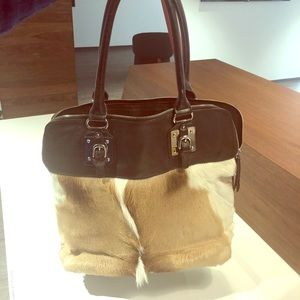 Wilsons Leather Roma Spring Buck Leather Tote